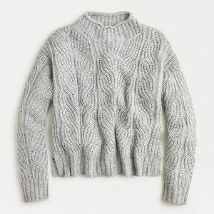 J. Crew Pointelle Mockneck Sweater S